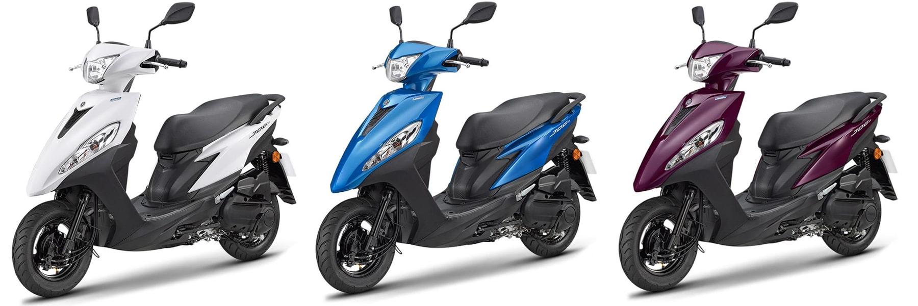 ยามาฮ่า Jog 125 2021 สีขาว, สีน้ำเงินและสีม่วง