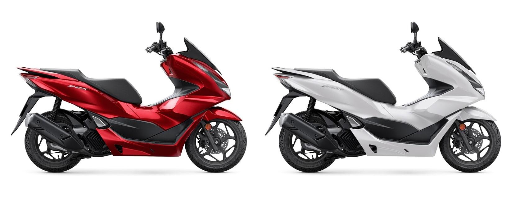 ฮอนด้า PCX125 2021 สีแดงและสีขาว