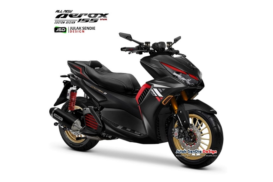 เผยกราฟิก All New Yamaha Aerox 155 X-Ride ออกแบบโดย JSD