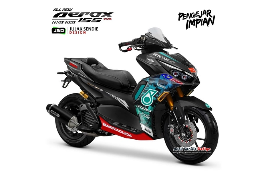 เผยภาพกราฟิก Yamaha Aerox 155 Pengejar Dreams ออกแบบโดย JSD