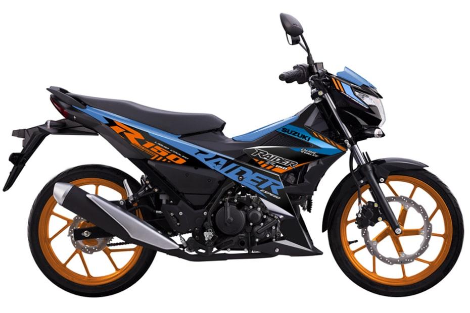 ซูซูกิ Raider R150 โมเดลใหม่ 2021 สีน้ำเงิน-สีส้ม