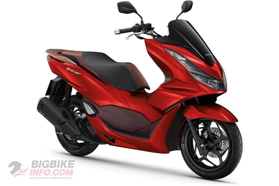 ฮอนด้า พีซีเอ็กซ์160 ปี 2021 รุ่น ABS สีแดง-น้ำตาล