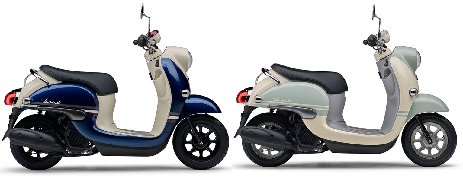 ยามาฮ่า Vino ปี 2021 สีน้ำเงินและสีฟ้าอ่อน ที่มีจำหน่ายอยู่แล้ว