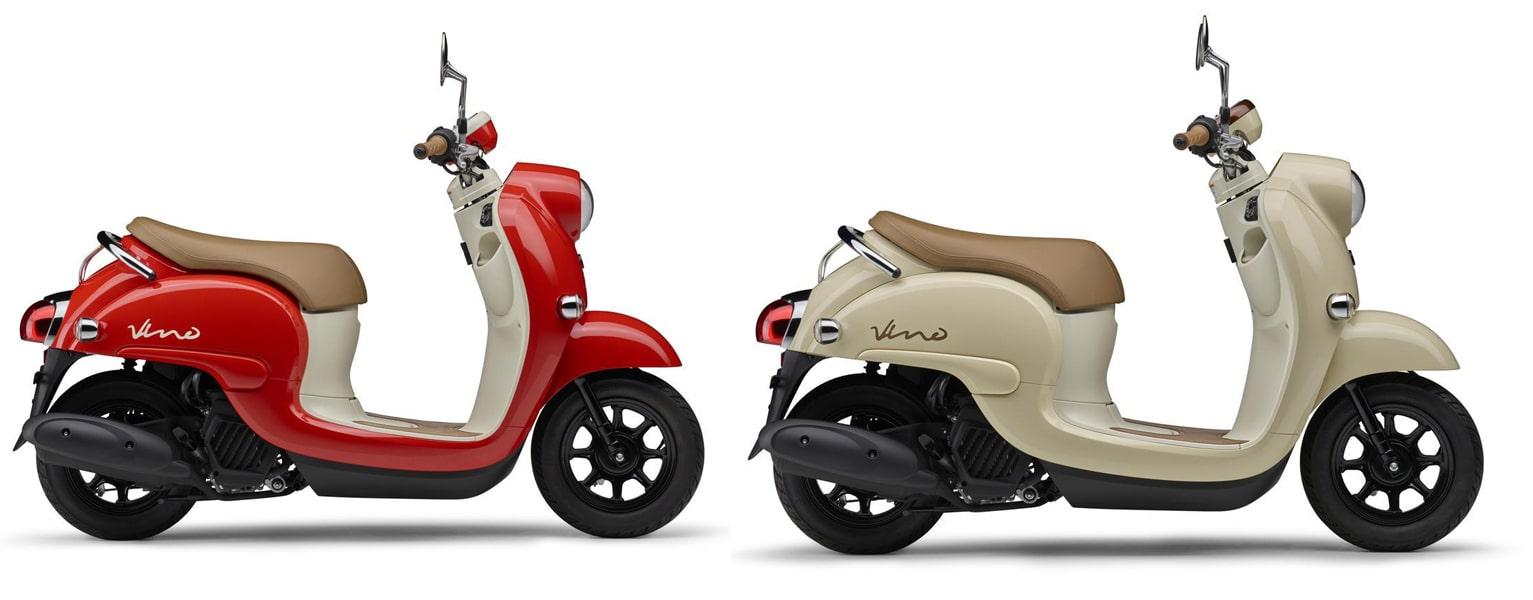 ยามาฮ่า Vino ปี 2021 สีแดงและสีเบจ