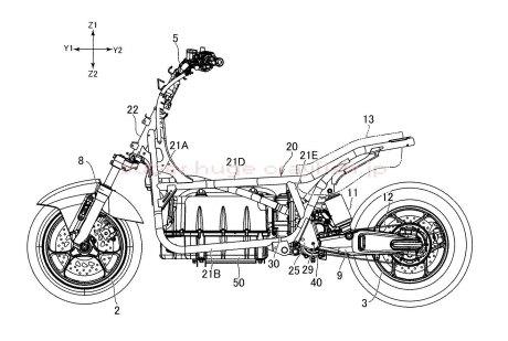 Yamaha จดสิทธิบัตรใหม่ Nmax มอเตอร์ไฟฟ้าด้านข้าง