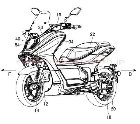Yamaha จดสิทธิบัตรใหม่ Nmax มอเตอร์ไฟฟ้า