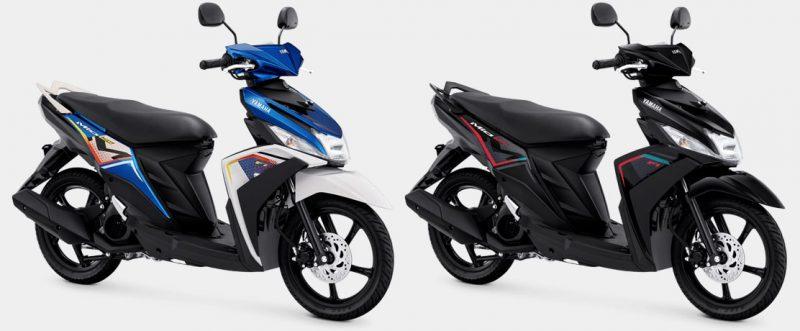 ยามาฮ่า Mio M3 2022 สีน้ำเงิน สีดำ