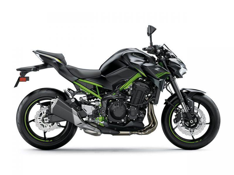 คาวาซากิ Z900 2021 สีใหม่ Metallic Spark Black x Metallic Flat Spark Black ด้านข้าง