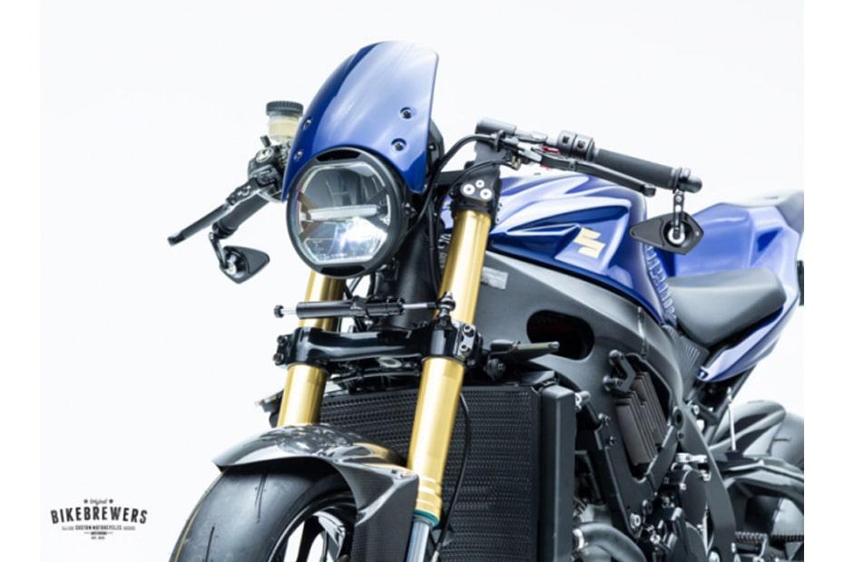 เผยการแปลงโฉม Suzuki GSX-R750 Cafe Racer ด้วยสีน้ำเงินที่ดุดัน