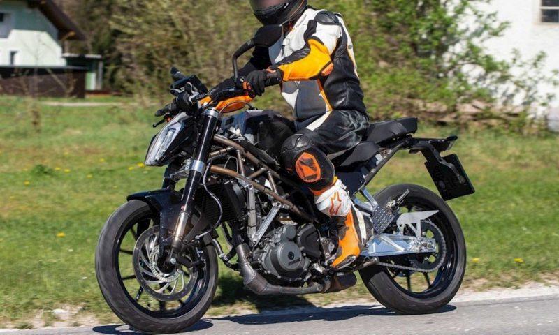 ภาพถ่าย KTM 390 Duke ใหม่วิ่งทดสอบ