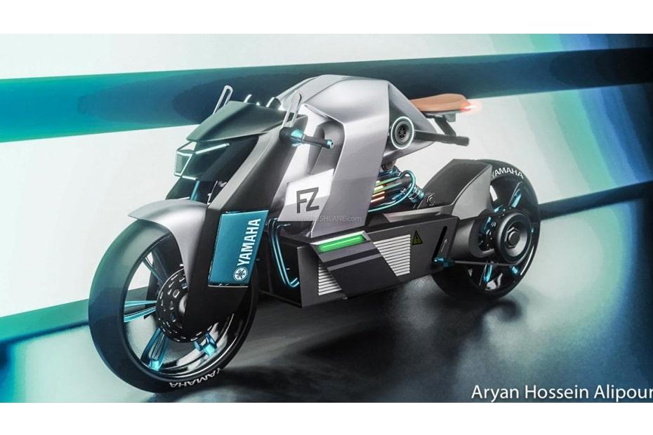 เผยภาพกราฟิก Yamaha FZ จักรยานยนต์ไฟฟ้าสไตล์ล้ำสมัย