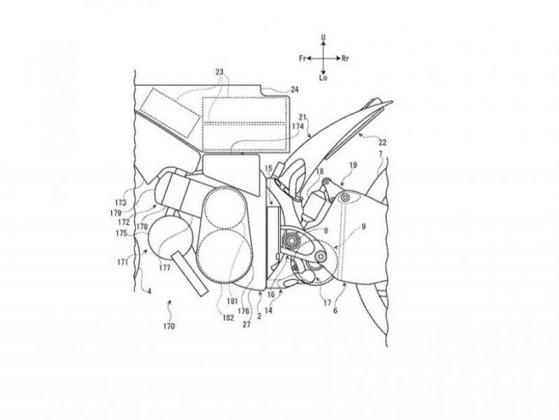 Suzuki ยื่นสิทธิบัตรใหม่ สิทธิบัตร ยามาฮ่า จักรยานยนต์ไฟฟ้าไฮบริด ช่วงเครื่องยนต์