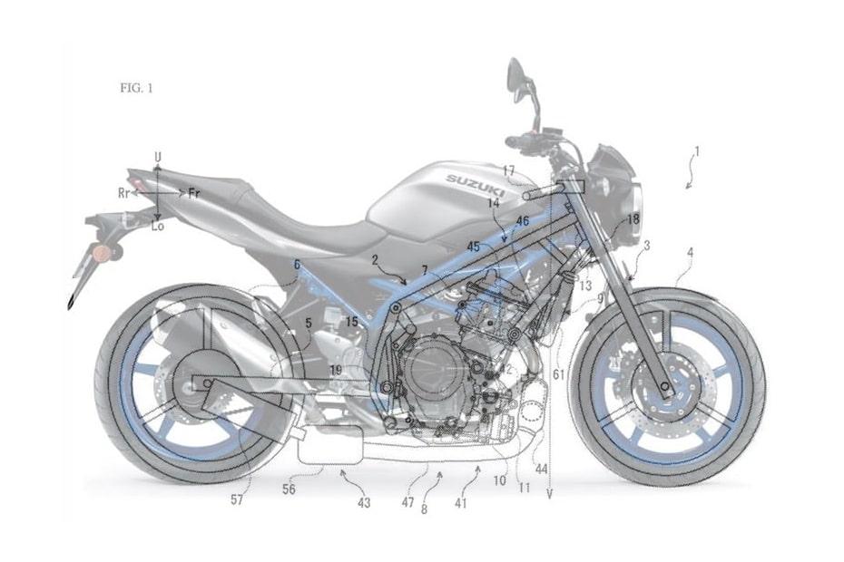 เผย Suzuki ประกาศจดสิทธิบัตรเครื่องยนต์ 2 สูบสำหรับ SV650 และ V-Strom 650