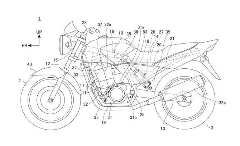 ยื่นสิทธิบัตร Honda CB250 เวอร์ชันโมโนช็อกโมเดลใหม่