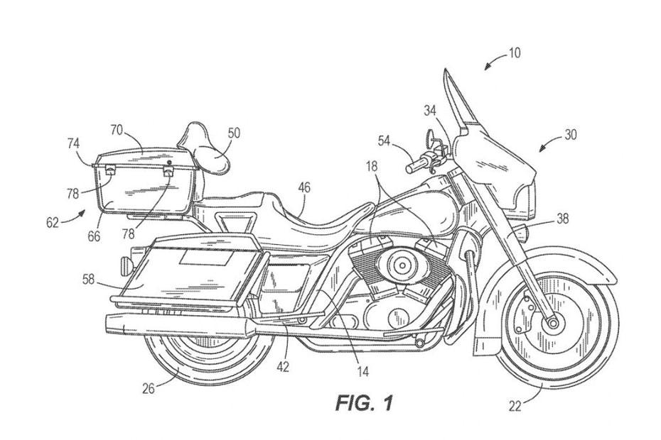 ค่าย Harley-Davidson ได้ยื่นจดสิทธิบัตรสำหรับกลไกการปรับสมดุล