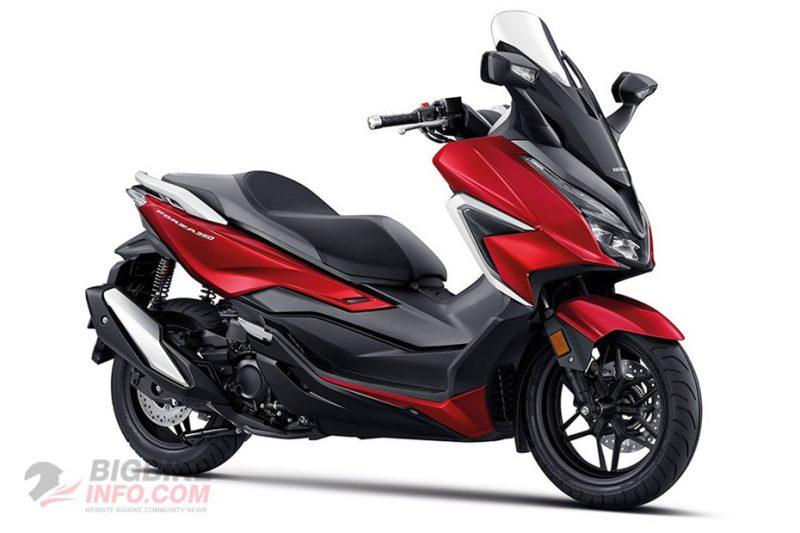 Honda Forza 350 2020 สีแดง-ดำ