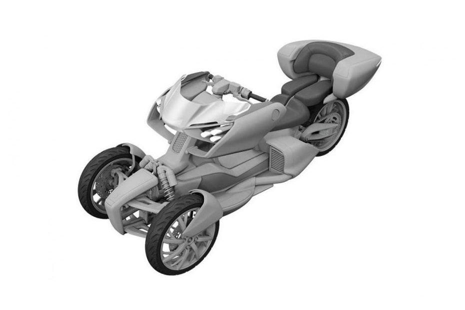 เผยภาพสิทธิบัตรใหม่ Yamaha ไฮบริดพร้อมพนักพิงสามล้อ