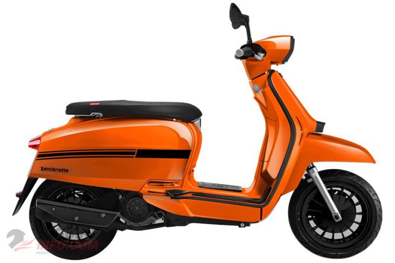 แลมเบรตต้า วี125 สเปเชียล สีส้ม