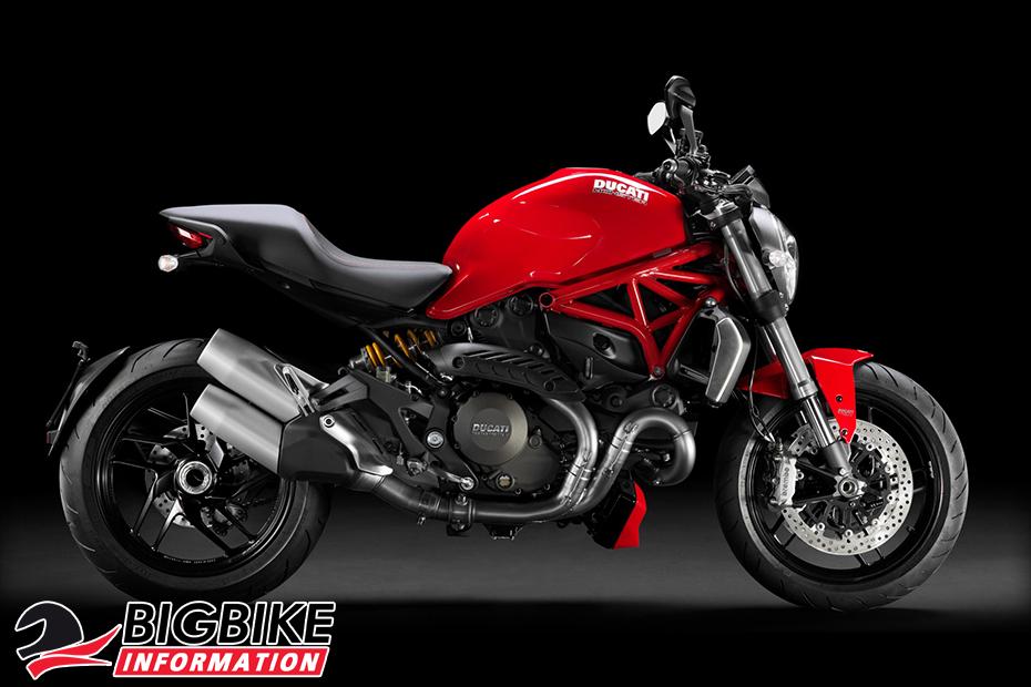 ภาพ Ducati Monster 1200 สีแดง ด้านข้าง