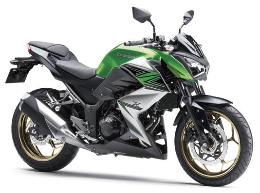 Kawasaki Z300 สีเขียวเทา ปี 2016