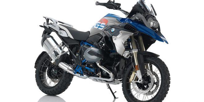 ภาพ BMW R 1200GS สีน้ำเงิน-เทา ด้านหน้า