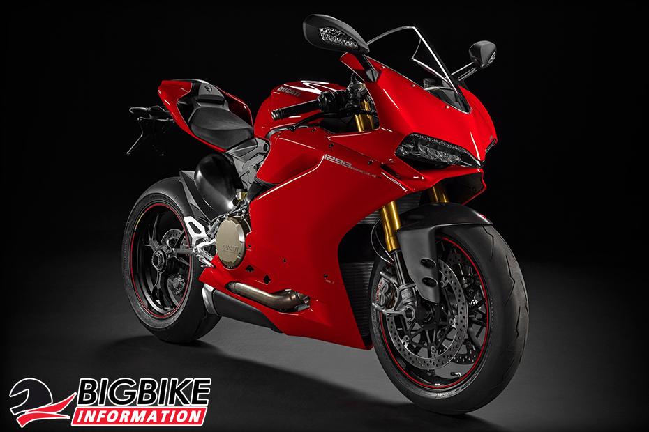 ภาพ Ducati 1299 Panigale S สีแดง ด้านหน้า