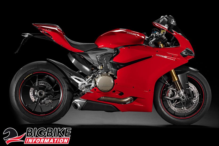 ภาพ Ducati 1299 Panigale S สีแดง ด้านข้าง
