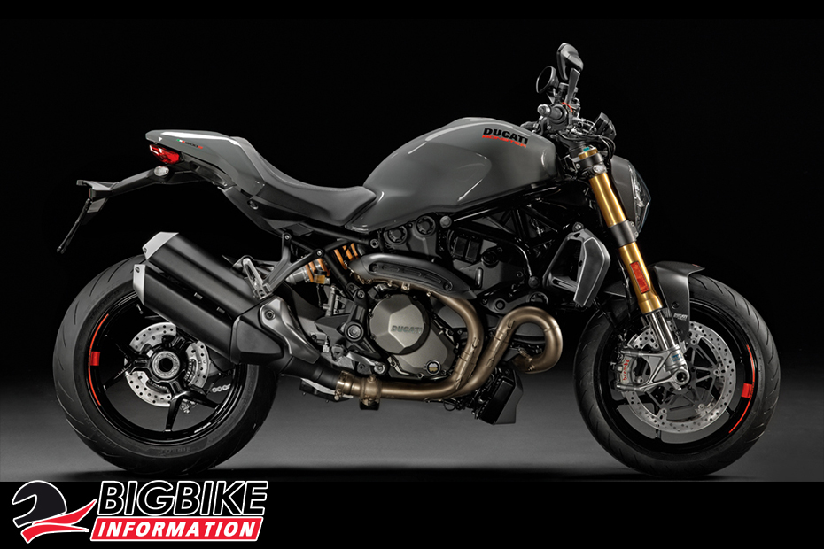 ภาพ DucatiMonster 1200 S สีเทา ด้านข้าง