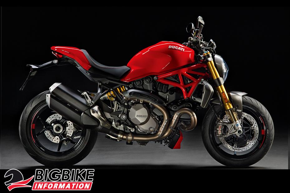 ภาพ DucatiMonster 1200 S สีแดง ด้านข้าง
