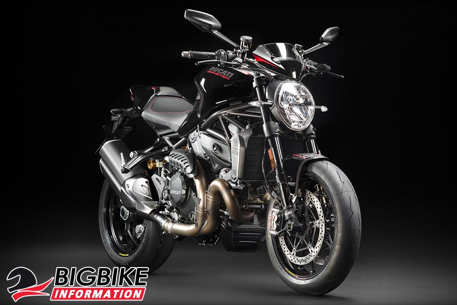 ภาพ Ducati Monster 1200 R สีดำ ด้านหน้า