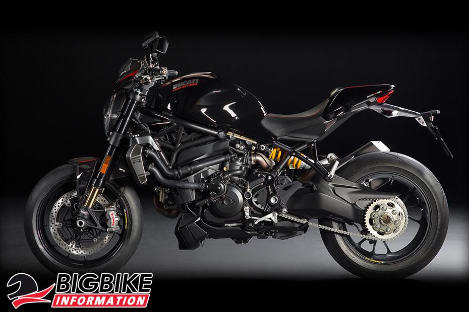 ภาพ Ducati Monster 1200 R สีดำ ด้านข้าง