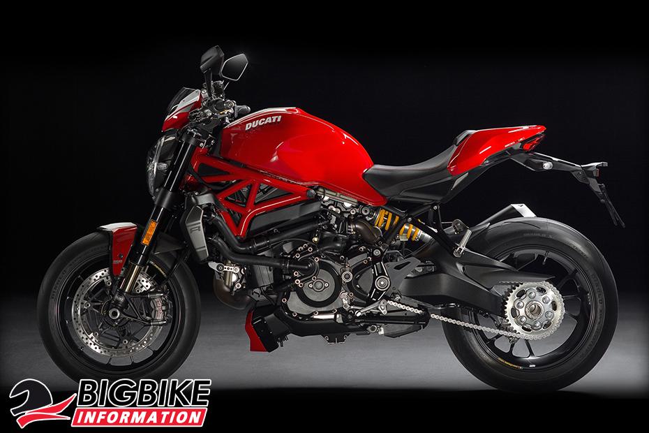 ภาพ Ducati Monster 1200 R สีแดง ด้านข้าง