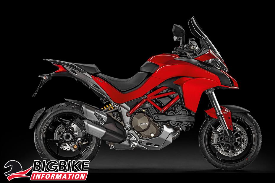 ภาพ Ducati Multistrada 1200 สีแดง ด้านข้าง