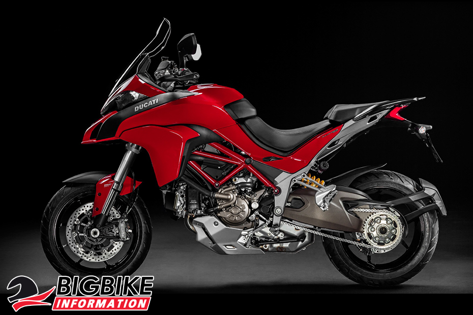 ภาพ Ducati Multistrada 1200สีแดง ด้านข้าง