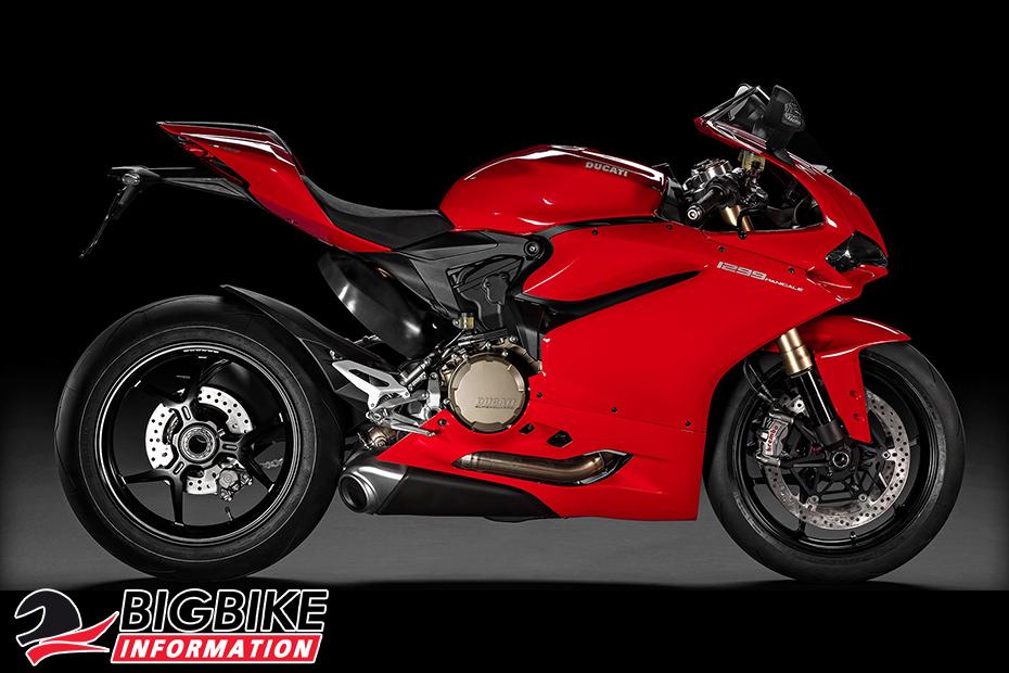 ภาพ Ducati 1299 Panigale สีแดง ด้านข้าง