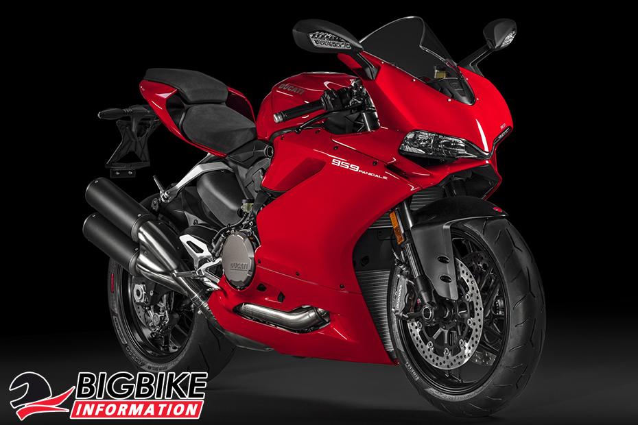 ภาพ Ducati 959 Panigale สีแดง ด้านหน้า