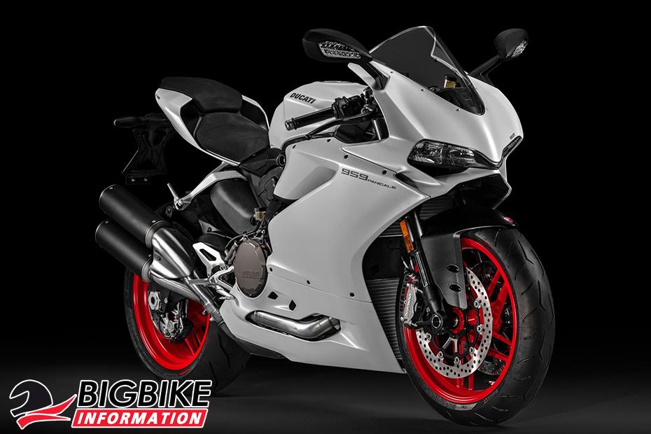 ภาพ Ducati 959 Panigale สีขาว ด้านหน้า