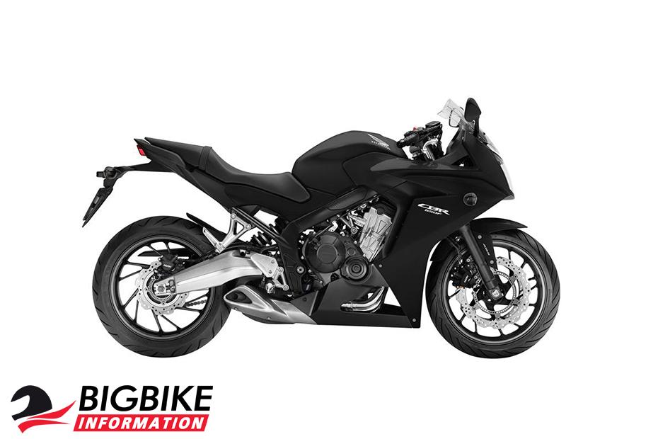 ภาพ Honda CBR650F สีดำ ด้านข้าง