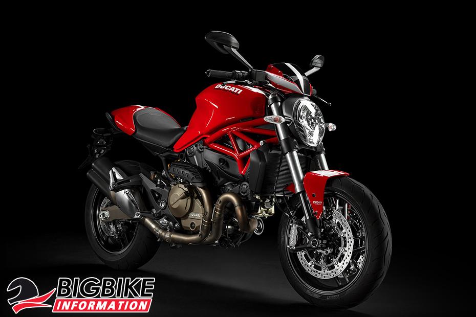ภาพ DucatiMonster 821Stripe สีแดง ด้านหน้า