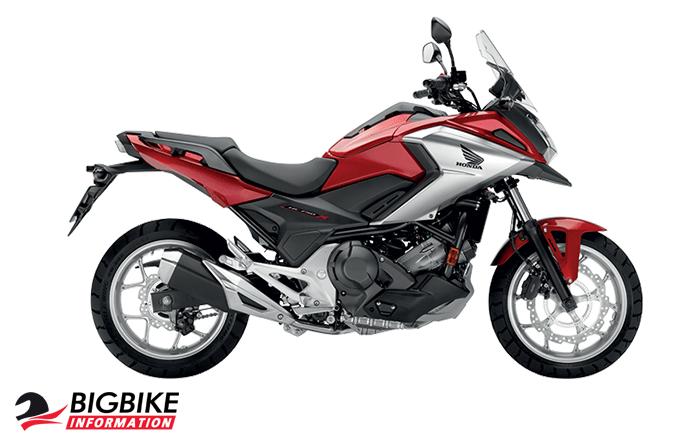 ภาพ Honda NC750X สีแดง-ขาว ด้านข้าง