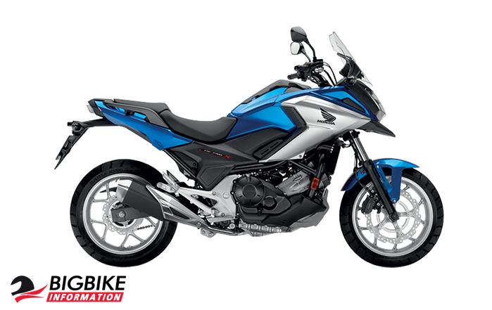ภาพ Honda NC750X สีน้ำเงิน-ขาว ด้านข้าง