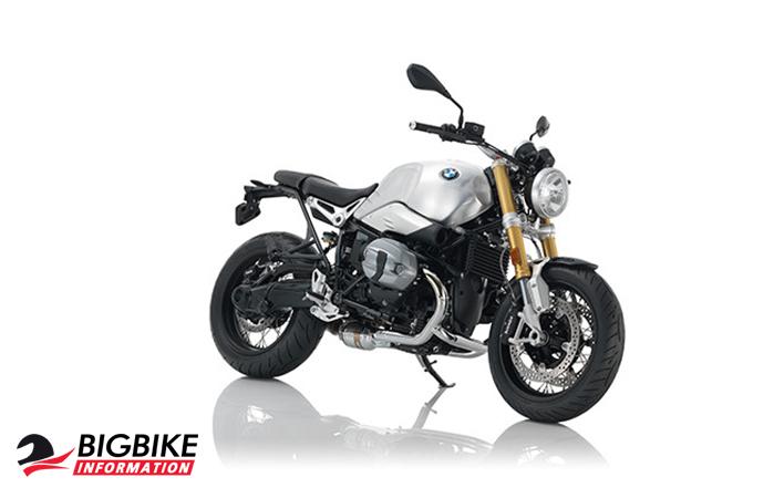 ภาพ BMW R NINE T สีเงิน ด้านหน้า