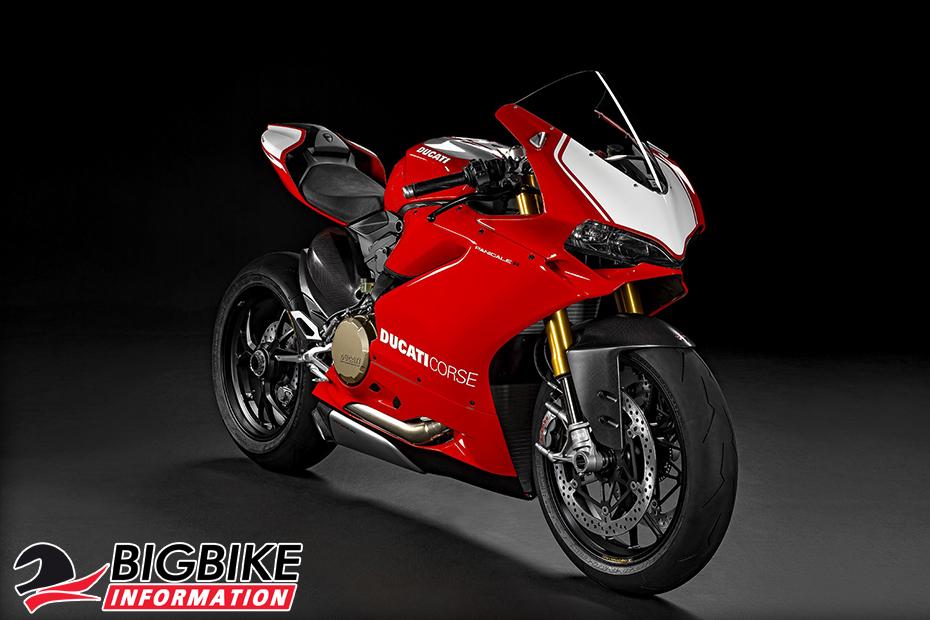 ภาพ Ducati 1199 Panigale R สีแดง ด้านหน้า