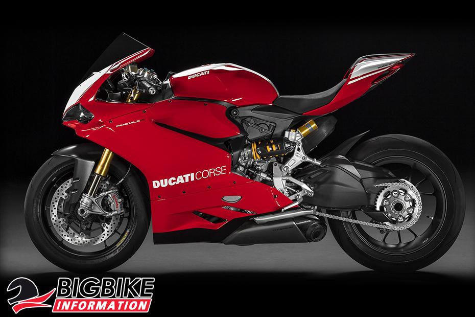 ภาพ Ducati 1199 Panigale R สีแดง ด้านข้าง