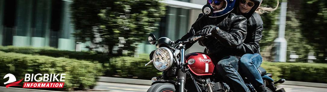 ภาพ Triumph STREET TWIN สีแดง