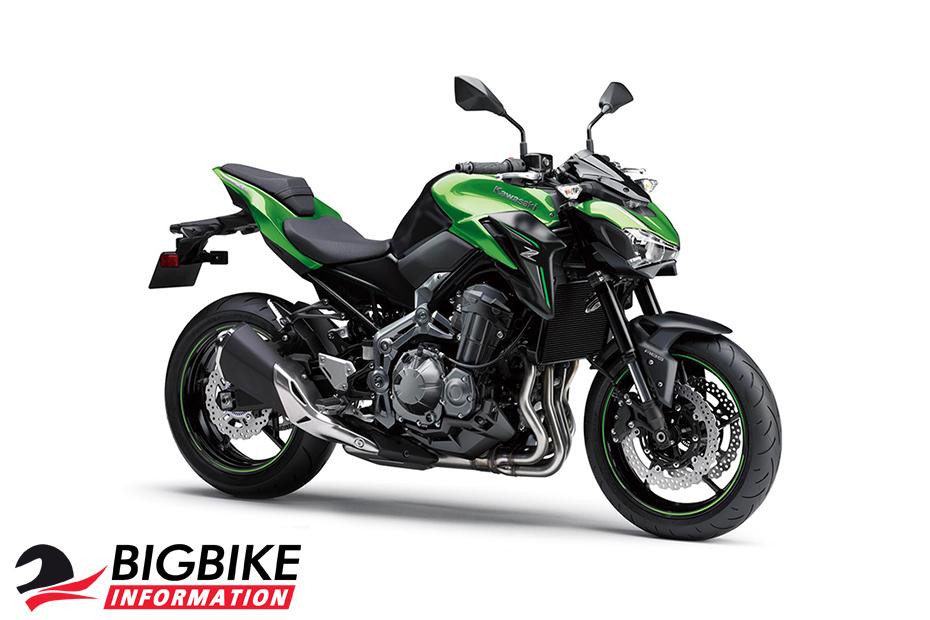 ภาพ Kawasaki Z900 สีเขียว 2018