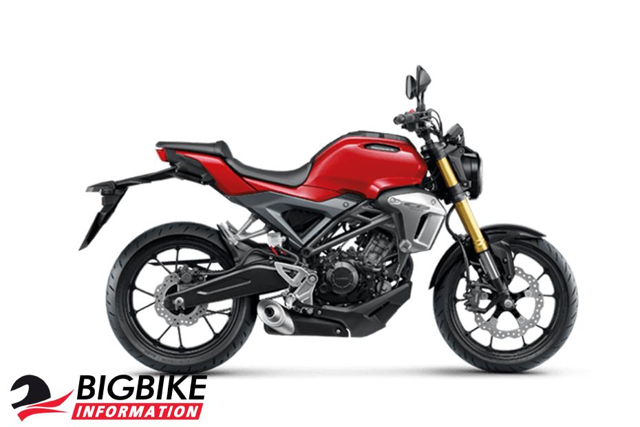 ภาพ Honda CB150R สีแดง ด้านข้าง