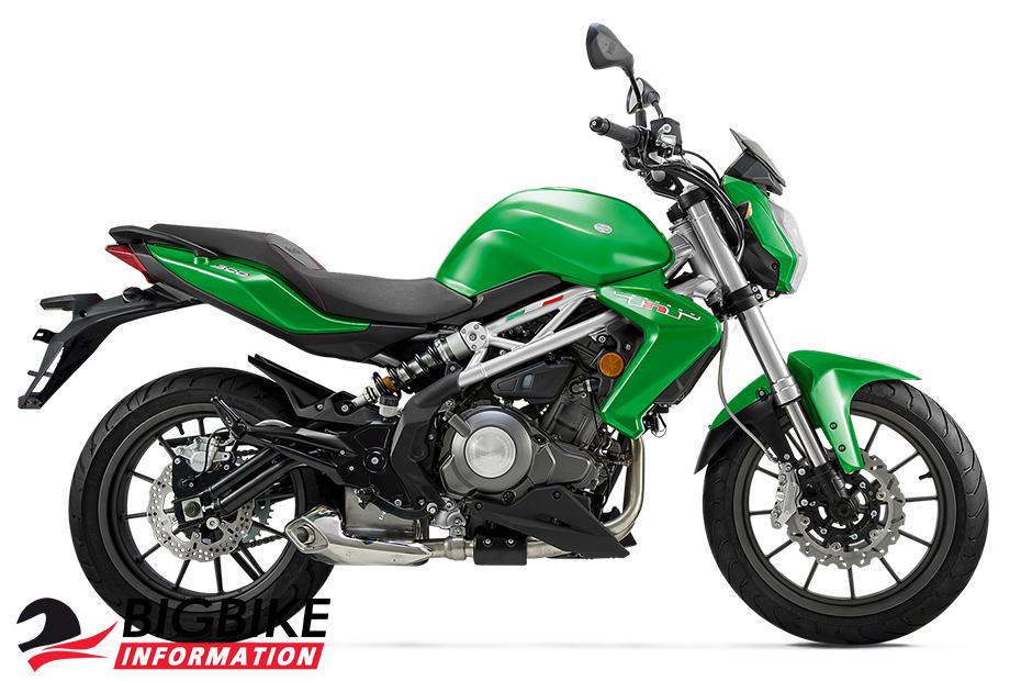 ภาพ Benelli TNT300sสีเขียว ด้านข้าง