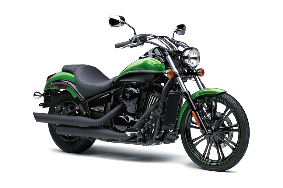 ภาพ Kawasaki Vulcan 900 Custom สีเขียว