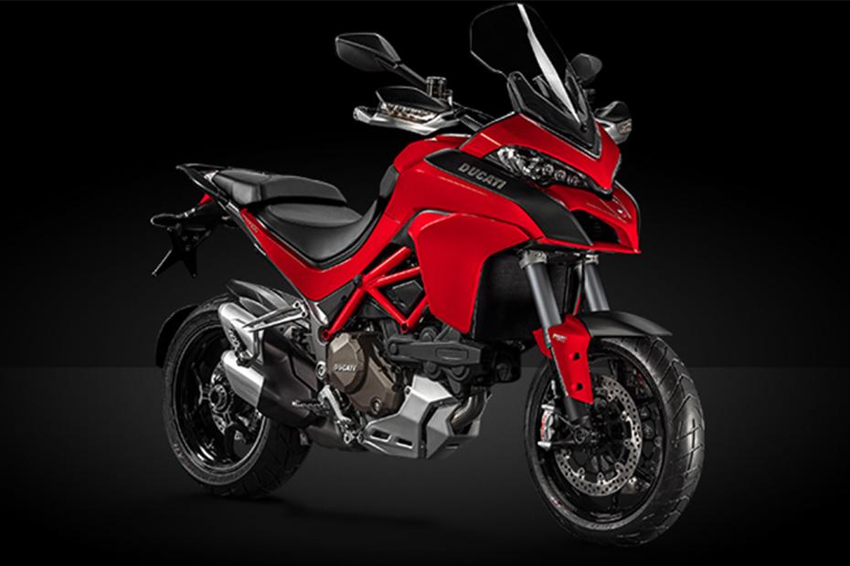ภาพ Ducati Multistrada 1200s สีแดง ด้านหน้า
